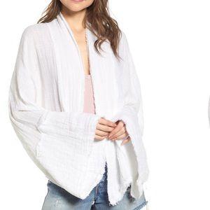 Free People Azalea Wrap top white cardigan (L1/7)